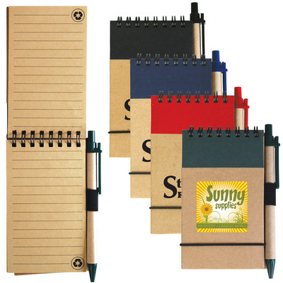 Picture of Tradie Cardboard Notebook with Pen