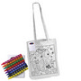 Colouring Long Handle Cotton Bag with Cr