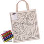 Colouring Calico Short Handle Bag with C