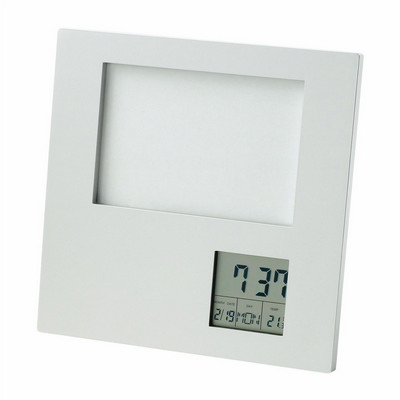 Picture of Photo Frame with Clock  Date  Temperature