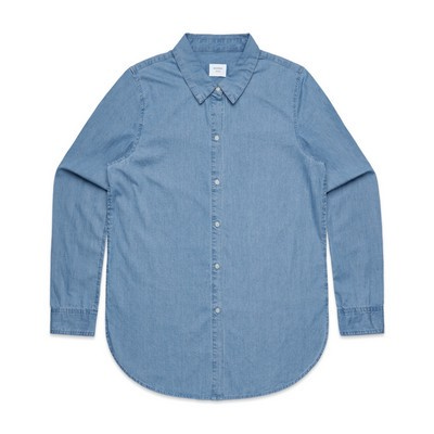 Picture of Womens Blue Denim Shirt