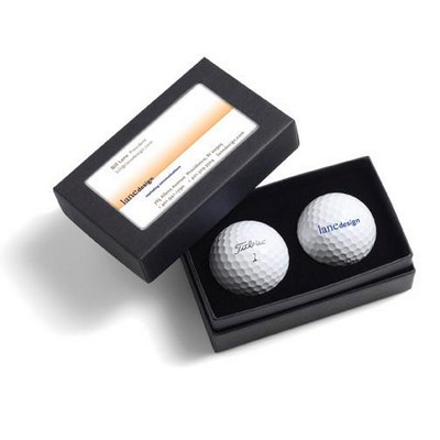 Picture of Titleist 2-Ball Business Card Box - Titl