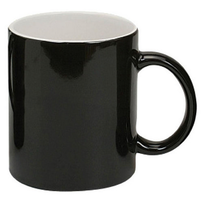 Picture of Can Mug Two-Tone Gloss Black  White