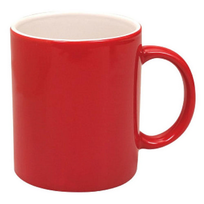 Picture of Can Mug Two Tone Gloss Red  White