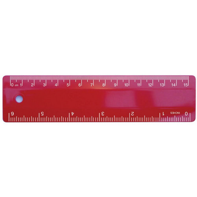 Picture of Ruler 15cm Red