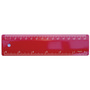 Ruler 15cm Red