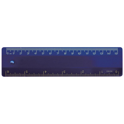 Picture of Ruler 15cm Navy Blue