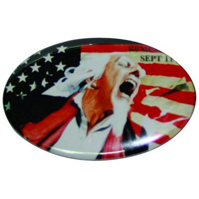 Picture of Bb005   Button Badge - Oval