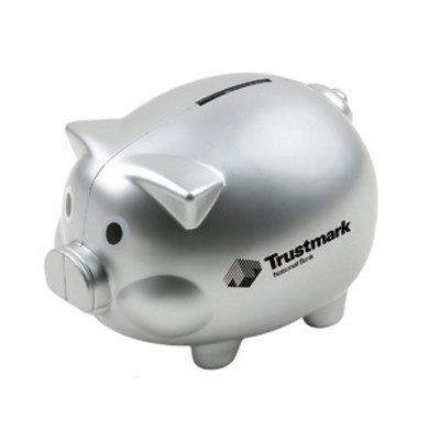 Picture of Ds050S Coin Bank Pig Shape With Silver