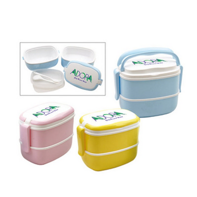 Picture of Ds337 2 Layer Lunch Box