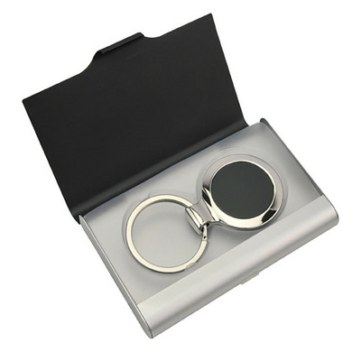 Picture of Kro004 Ebony Key Ring Business Card Hold