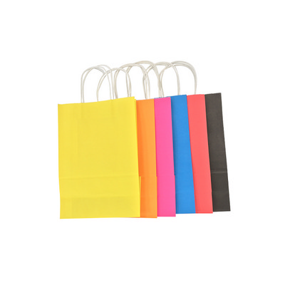 Picture of Junior Sized Coloured Kraft Bag with pap