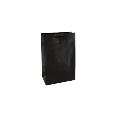 Picture of Small Black Gloss Laminated Paper Bag Pr