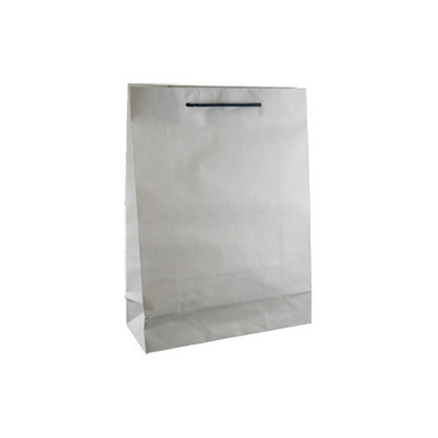 Picture of Small Deluxe White Kraft Paper Bag Print