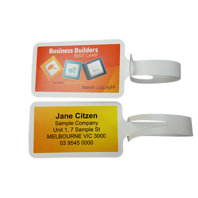 Picture of Laser Printed Never Tear Luggage Tags Pe