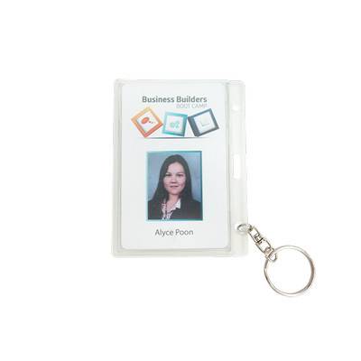 Picture of Rigid Security ID card holder with Keyri