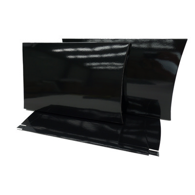 Picture of A4 Black Gloss Pillow Box with Gusset
