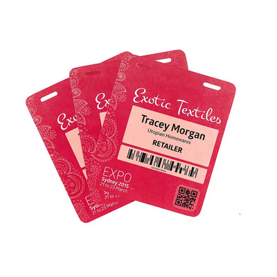 "Picture of Pocketless ""Never Tear Paper"" Name Tags"