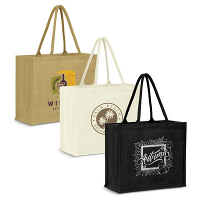 Picture of Modena Jute Tote Bag - Colour Match