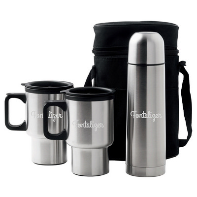 Picture of Car Mug/Vacuum Flask Set