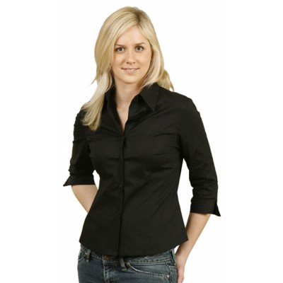 Picture of Ladies 34 Sleeve Stretch Poplin Shirt