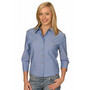 Ladies Wrinkle Free 34 Sleeve Chambray S
