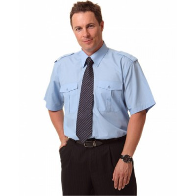 Picture of Mens Short Sleeve Epaulette Shirts