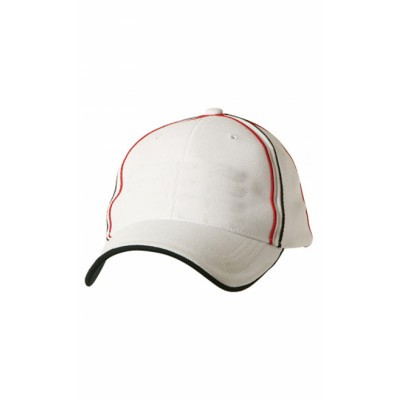 Picture of Tri-Colour Pique Mesh Cap