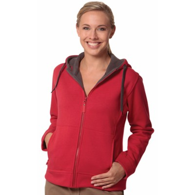 Picture of Ladies Full Zip Contrast Bonded Fleece H