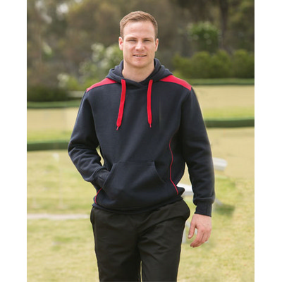 Picture of Adults Close Front Contrast Fleece Hoodie