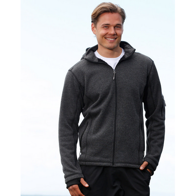 Picture of Mens Heather Bonded Coral Fleece Jacket