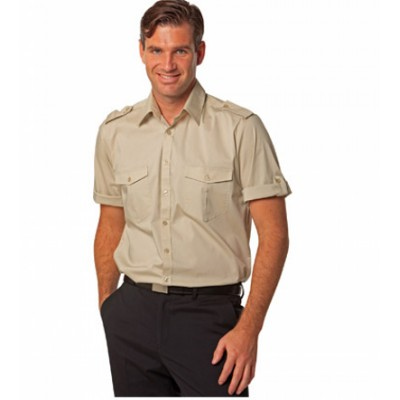Picture of Mens Short Sleeve Military Shirt