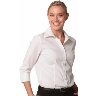 Picture of Ladies CottonPoly Stretch 34 Sleeve Shirt