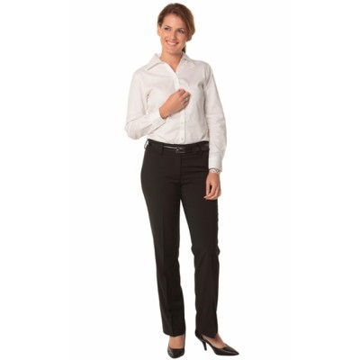 Picture of Ladies PolyViscose Stretch Stripe Low Ri