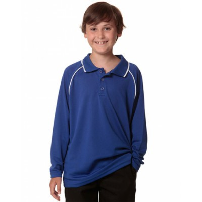 Picture of Kids CoolDry Long Sleeve Contrast Colour