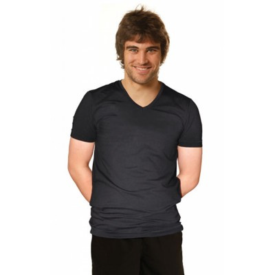 Picture of Mens Cotton Stretch V-Neck Short Sleeves