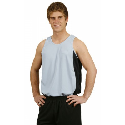 Picture of Mens Contrast CoolDry Mesh Singlet