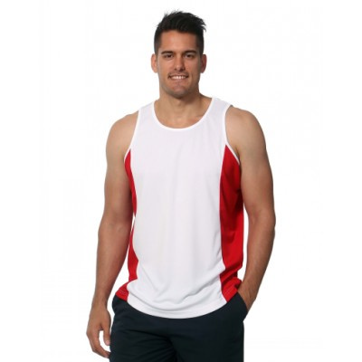 Picture of Mens Contrast TrueDry Mesh Singlet