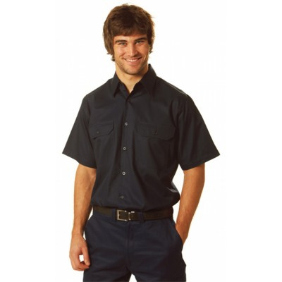Picture of Cool-Breeze Cotton Short Sleeve Work Shi