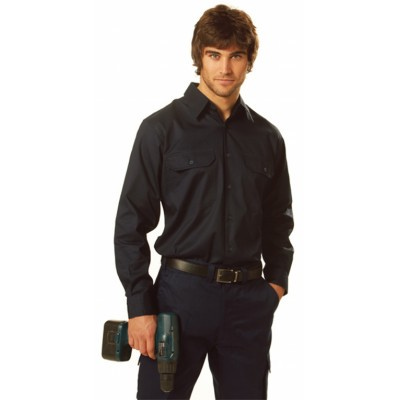 Picture of Cool-Breeze Cotton Long Sleeve Work Shirt