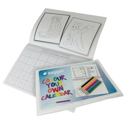 Picture of A4 colouring in calendar 24pp + cover (4