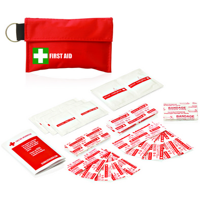 Picture of First Aid Kit Pouch Keyring 34pc