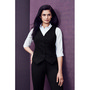 Womens Peaked Vest with Knitted Back