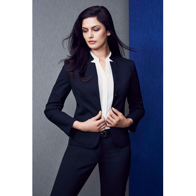 Picture of Womens Short Jacket with Reverse Lapel