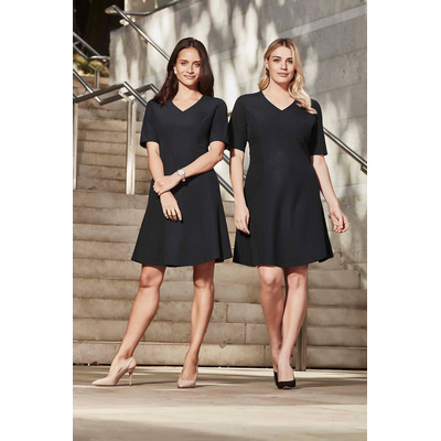 Picture of Womens Extended Short Sleeve Dress
