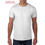 Anvil Adult Black Tee White