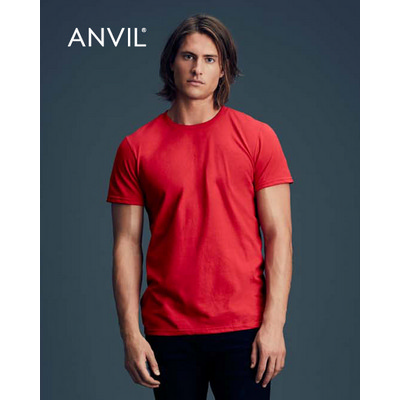 Picture of Anvil Adult Black Tee Colours