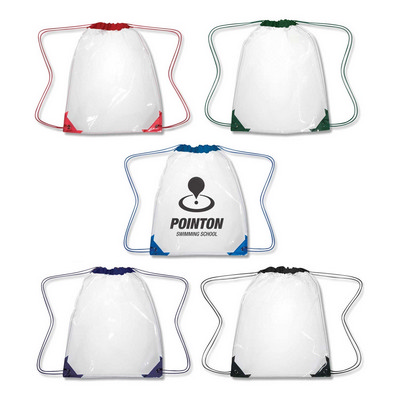 Picture of Clear Drawstring Backpack