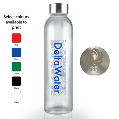 Picture of Capri Glass Bottle with Stainless Steel