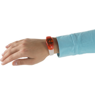 Picture of ABS and silicone wrist band with LED lig